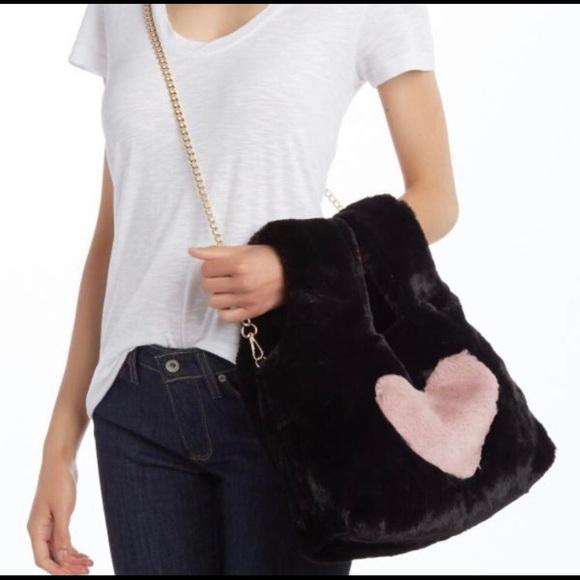 Pink Haley Handbags - Faux Fur Arm Warmer/Holder Bag